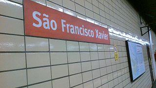 São Francisco Xavier Station metro station in Rio de Janeiro, Brazil