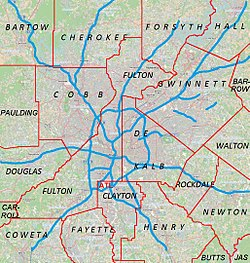 Kelleytown, Georgia is located in Metro Atlanta