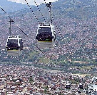 Metrocable (Medellín) - Image: Metrocablemed