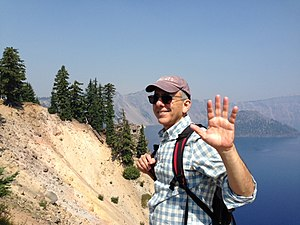 Michael Gordon (composer) - Michael Gordon at Crater Lake