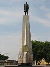 Miguel Grau Statue in Trujillo Ovalo Grau