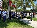 Mike Garcia presenting Diego Pongo's family a flag.jpg