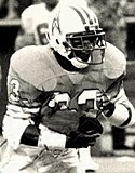 A picture of Mike Rozier playing for the Houston Oilers.