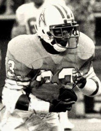 Mike Rozier - Rozier playing for the Houston Oilers in 1987