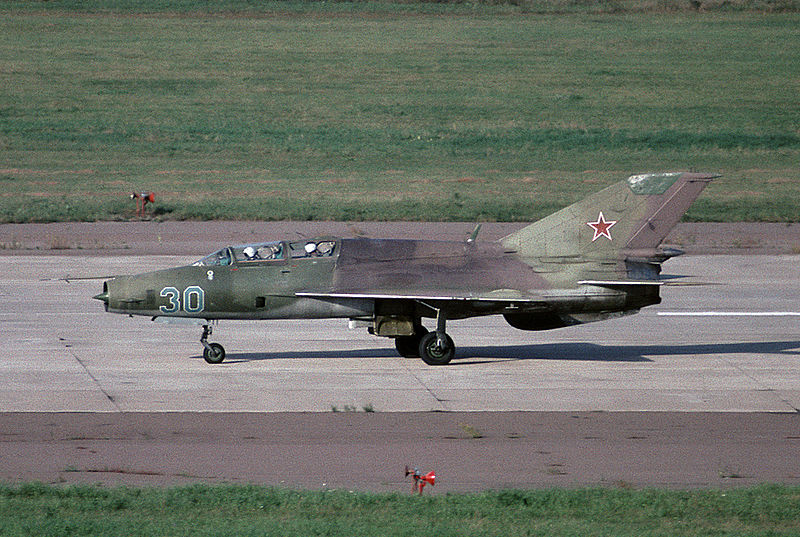 File:Mikoyan-Gurevich MiG-21UM at MAKS-1995 airshow.jpg