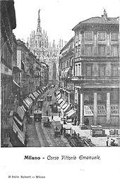 Milano Corso Vittorio Emanuele trams.jpg