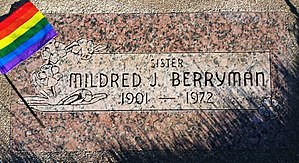 Mildred J. Berryman - Grave marker for the resting place of Berryman