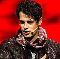 Milo Yiannopoulos Methodist Central Hall Westminster London June 2013 (cropped)