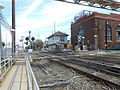 Mineola LIRR Station; PedXing, Nassau Tower and Substation.jpg