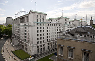 Ministry of Defence (United Kingdom) - The MoD Main Building, Whitehall, London