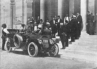 "Archduke Franz Ferdinand of Austria - As described by contemporary Spanish magazine El Mundo Gráfico: ""The moment when the Austrian archdukes, following the first attempt against their lifes, arrived at the City Council (of Sarajevo), where they were received by the mayor and the municipal corporation."""