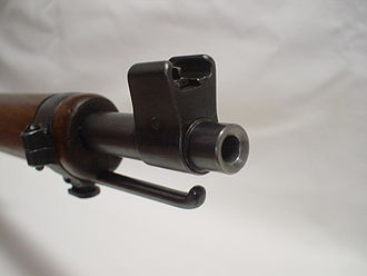 Iron sights - Front sight post.
