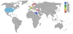 Страны и территории участвовавшие в