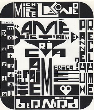 "Francis Bernard (artist) - A billboard of ""AMERICA"""