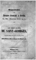 Roger de Beauvoir: Le chevalier de Saint-Georges