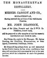 Monasterevan Distillery - John Brannick advertisement.png