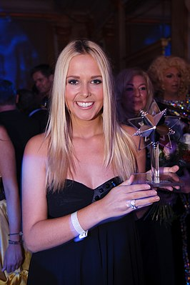 Smit tijdens de Beau Monde Awards (november 2010)