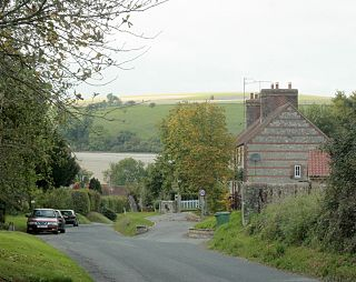 Monkton Deverill village in the United Kingdom