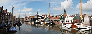 Monnickendam Town in North Holland, Netherlands
