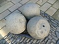 Mons Meg cannonballs, Edinburgh Castle - geograph.org.uk - 2718893.jpg