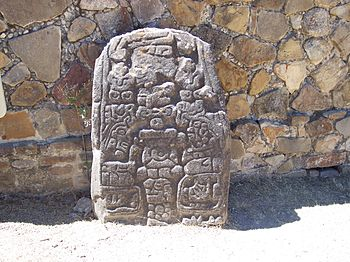 Monte Alban Rock Relief - 001