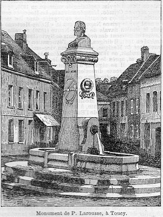 Pierre Larousse - Monument to Pierre Larousse in his native town (early 20th century).