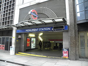 Monument station east entrance.JPG