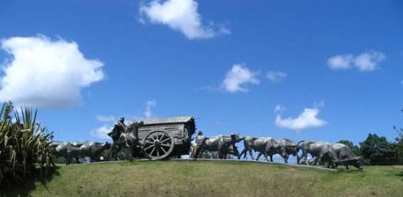 Monumento La Carreta en Montevideo