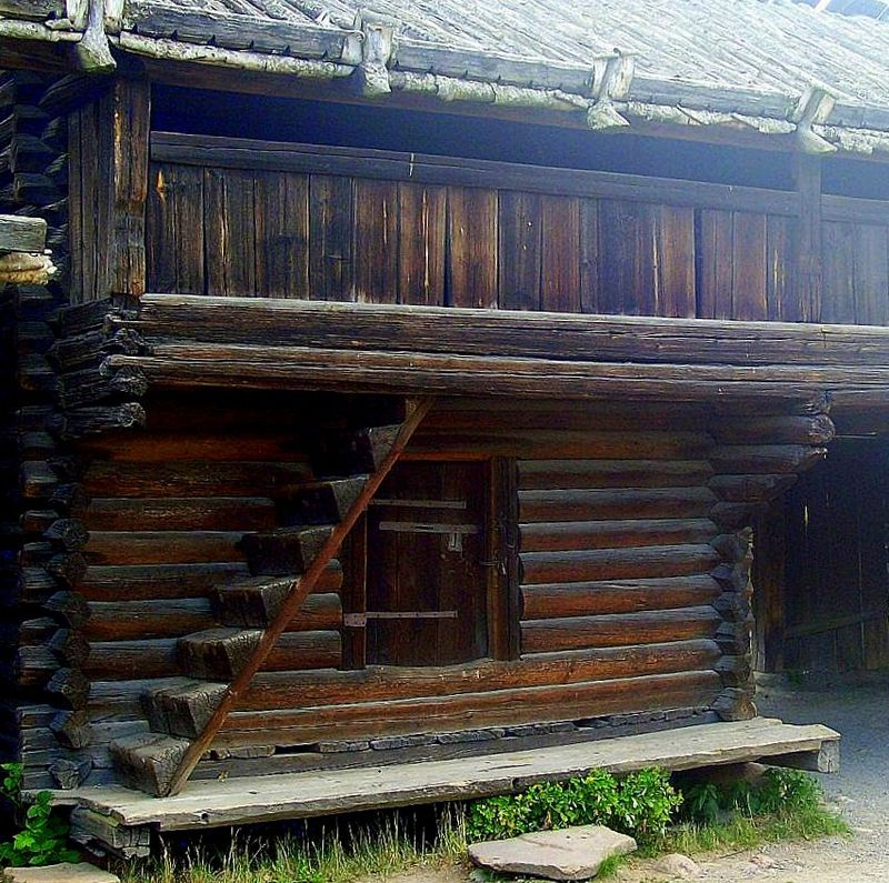Mora Farmstead Storehouse Skansen.JPG