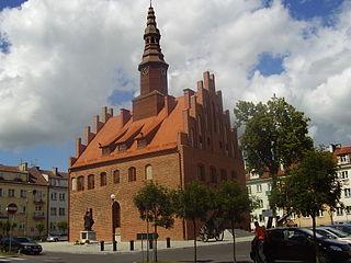 Morąg Place in Warmian-Masurian Voivodeship, Poland