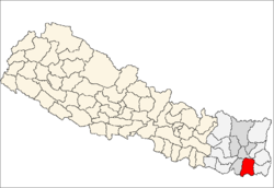 map of Morang, Nepal