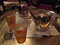 Moroccan food and drink - mint tea in Cafe Casablanca (5367521925).jpg