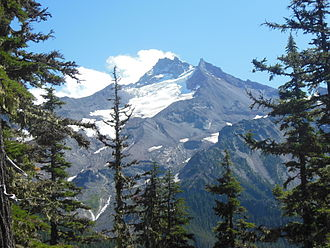 Mount Jefferson Wilderness - The Jefferson Park Glacier on the mountain's northwest face