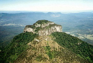Mount Lindesay, Queensland, Australia from a l...