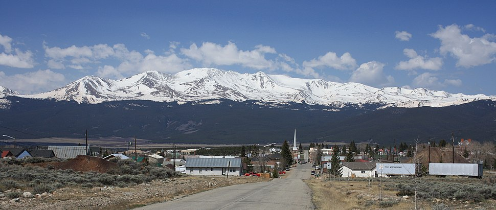 Mount Massive and Leadville from 6th Street