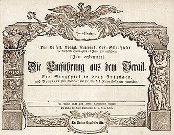 File:Mozart Die Entführung aus dem Serail Uraufführung 1782.jpg (Quelle: Wikimedia)