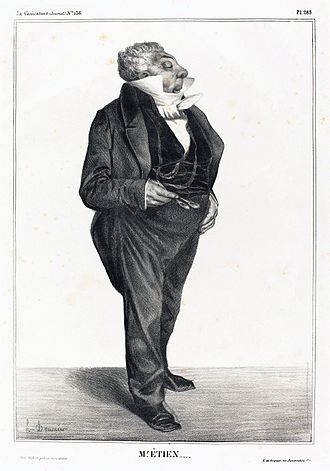 Charles-Guillaume Étienne - Caricature by Honoré Daumier, 1833
