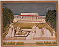 Muhammad Shah enthroned on a terrace at night with his officers (6125043532).jpg
