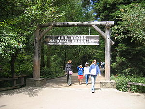 Muir Woods National Monument - Main entrance to Muir Woods National Monument, 2006