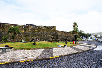 Azores Voyage of 1589 - Forte de Santa Cruz present day in which Cumberland took by assault