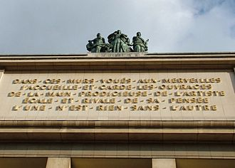 Musée de l'Homme - Inscription above the museum