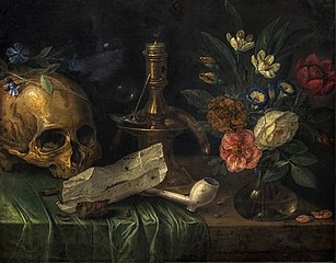 Vanity with a skull
