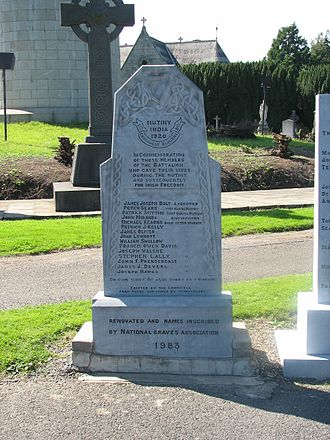 Connaught Rangers - Connaught Rangers mutineers' memorial, Glasnevin Cemetery, Dublin