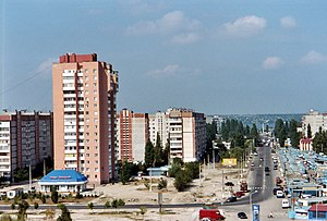 Microdistrict - View of Namyv microdistrict in Mykolaiv, Ukraine