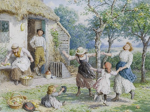 Myles Birket Foster Ring a Ring a Roses