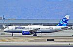 """N649JB JETBLUE AIRWAYS 2006 AIRBUS A320-232 s-n 2977 """"Fancy Meeting Blue Here"""" (13960910123).jpg"""
