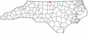 Milton, North Carolina - Image: NC Map doton Milton