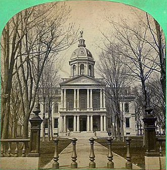 New Hampshire State House - A stereograph view of the New Hampshire State House, ca. 1875