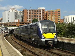 NIR Class 4000 - Image: NIR Class 4000 DMU 4020 Great Victoria Street station, Belfast 20130626 163108 (10273747333)