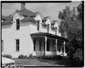 NORTHWEST FACADE (FRONT) - Swan J. Dahlberg Farmstead, Residence, U.S. Highway 93, Fortine, Lincoln County, MT HABS MONT,27-FOTI.V,1-A-1.tif
